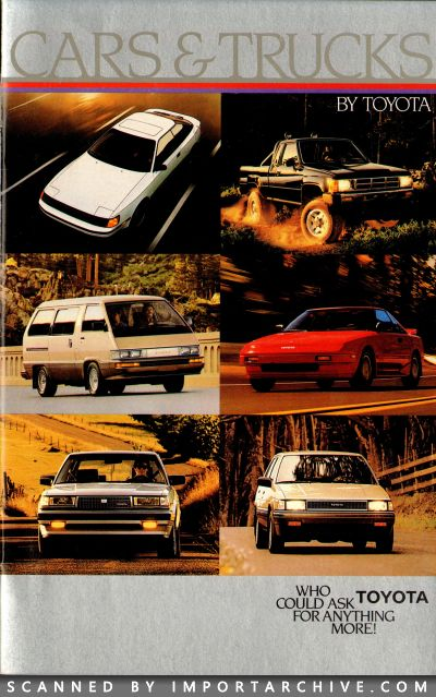 1986 Toyota Brochure Cover