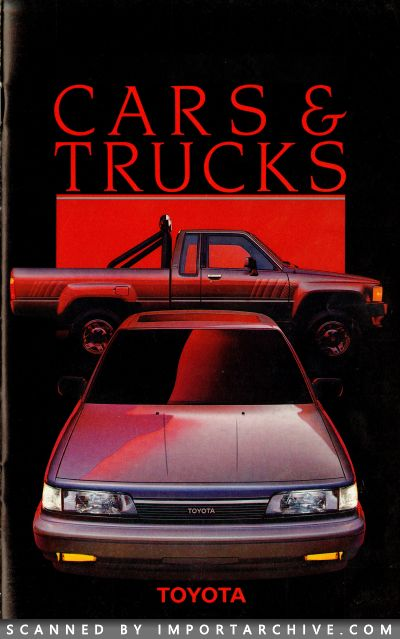 1987 Toyota Brochure Cover