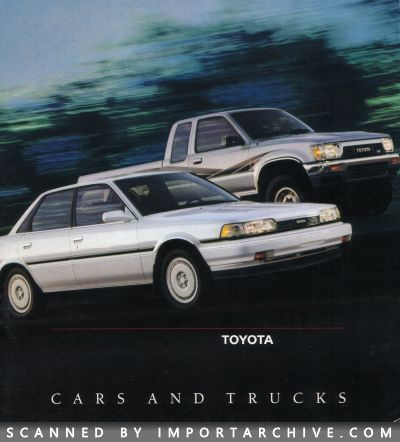 1990 Toyota Brochure Cover