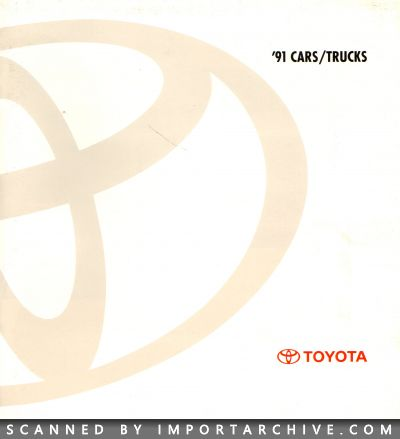 1991 Toyota Brochure Cover