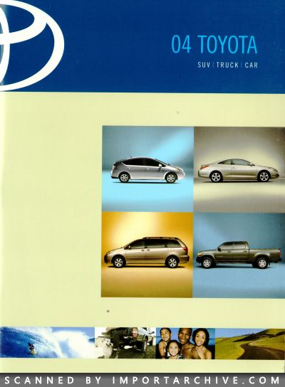 2004 Toyota Brochure Cover