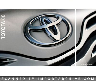 2008 Toyota Brochure Cover