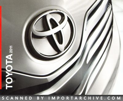 2011 Toyota Brochure Cover