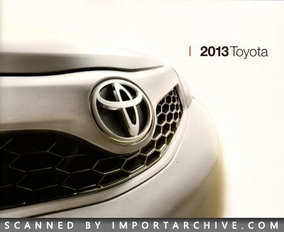 2013 Toyota Brochure Cover