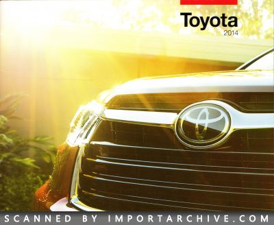 2014 Toyota Brochure Cover