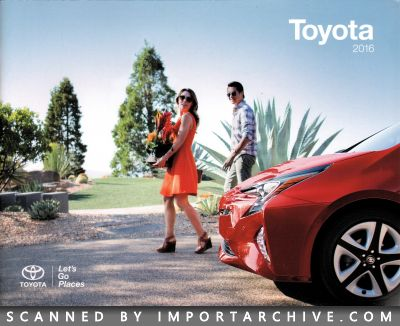2016 Toyota Brochure Cover