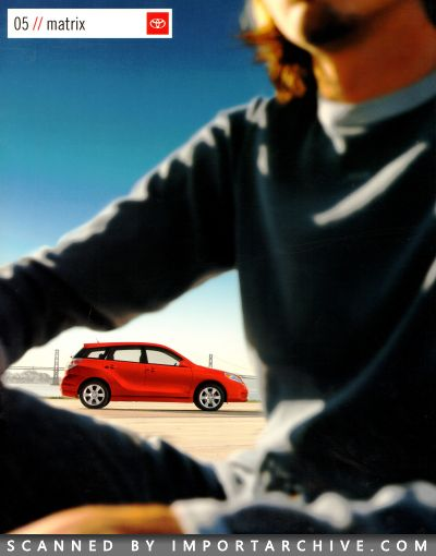 2005 Toyota Brochure Cover