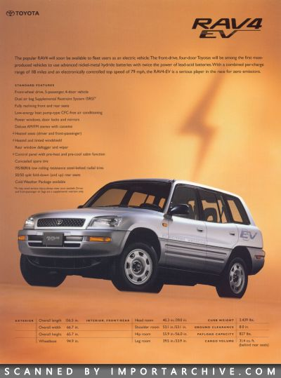 1998 Toyota Brochure Cover