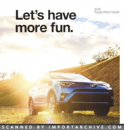 2016 Toyota Brochure Cover Rav4