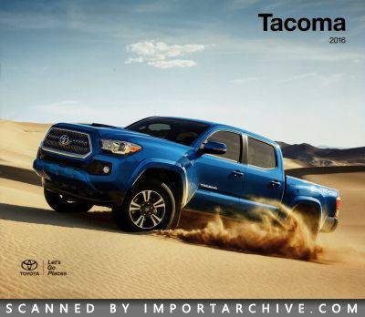 2016 Toyota Brochure Cover Tacoma