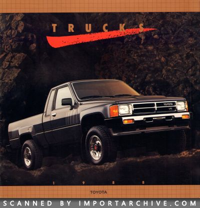 1988 Toyota Brochure Cover