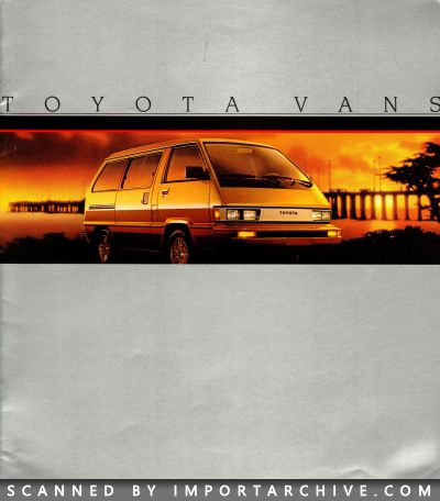 1985 Toyota Brochure Cover