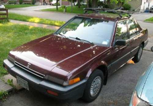 Photo Image Gallery & Touchup Paint: Honda Accord in Regency Red Metallic  (R48M)  YEARS: 1986-1986