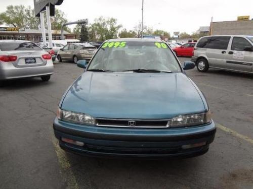 Photo Image Gallery & Touchup Paint: Honda Accord in Hampshire Green Metallic  (BG26M)  YEARS: 1990-1991