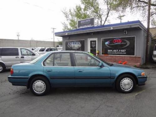 Photo Image Gallery & Touchup Paint: Honda Accord in Hampshire Green Metallic  (BG26M)  YEARS: 1991-1991