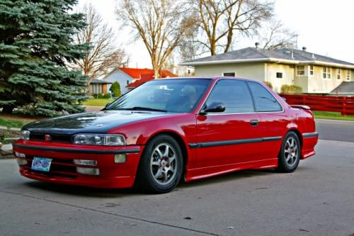 Photo Image Gallery & Touchup Paint: Honda Accord in Phoenix Red   (R51)  YEARS: 1990-1991