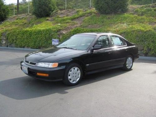 Photo Image Gallery & Touchup Paint: Honda Accord in Flamenco Black Pearl  (NH592P)  YEARS: 1996-1997