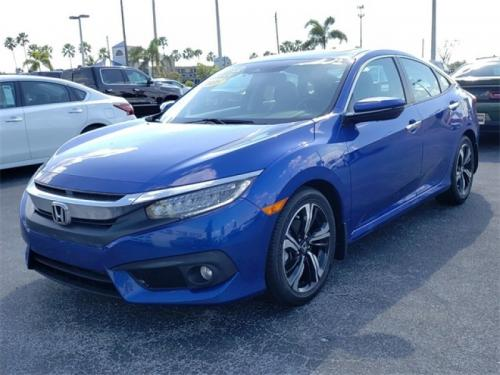 Photo Image Gallery & Touchup Paint: Honda Civic in Aegean Blue Metallic  (B593M)  YEARS: 2017-2018