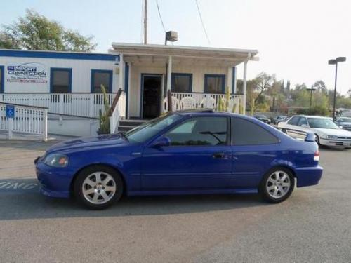Photo Image Gallery & Touchup Paint: Honda Civic in Electron Blue Pearl  (B95P)  YEARS: 1999-2000