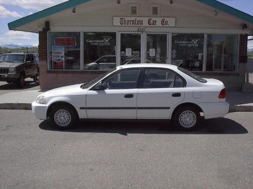 Photo Image Gallery & Touchup Paint: Honda Civic in Frost White   (NH538)  YEARS: 1996-1997