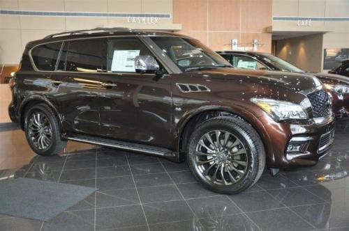 Photo Image Gallery & Touchup Paint: Infiniti QX in Mocha Almond   (CAS)  YEARS: 2017-2018