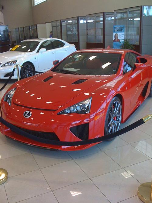 Photo Image Gallery & Touchup Paint: Lexus Lfa in Red    (3P0)  YEARS: 2012-2012