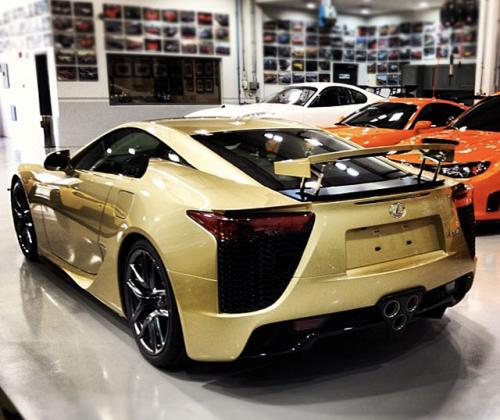 Photo Image Gallery & Touchup Paint: Lexus Lfa in Crystal Gold   (9H7)  YEARS: 2012-2012