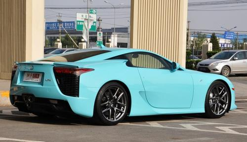Photo Image Gallery & Touchup Paint: Lexus Lfa in Sky Blue   (9J5)  YEARS: 2012-2012