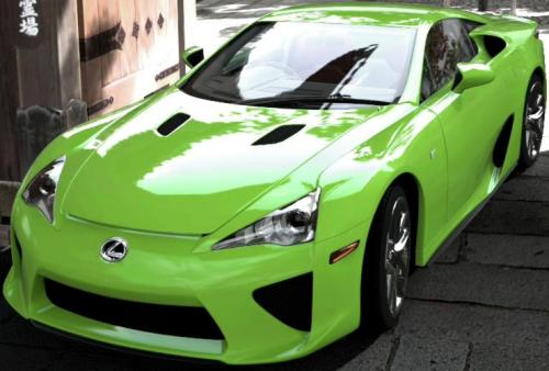 Photo Image Gallery & Touchup Paint: Lexus Lfa in Lime Green   (9J6)  YEARS: 2012-2012