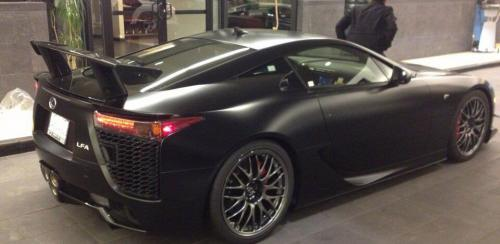 Photo Image Gallery & Touchup Paint: Lexus Lfa in Matte Black   (9K4)  YEARS: 2012-2012