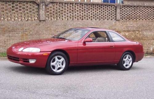 Photo Image Gallery & Touchup Paint: Lexus SC in Garnet Pearl   (3K3)  YEARS: 1992-1994