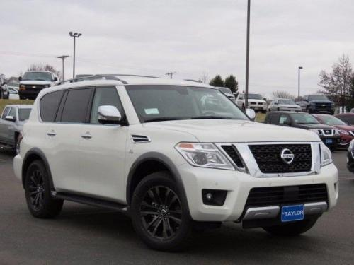 Photo Image Gallery & Touchup Paint: Nissan Armada in Pearl White   (QAB)  YEARS: 2017-2018