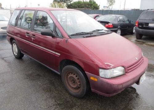 Photo Image Gallery & Touchup Paint: Nissan Axxess in Burgundy Pearl   (AH2)  YEARS: 1990-1990