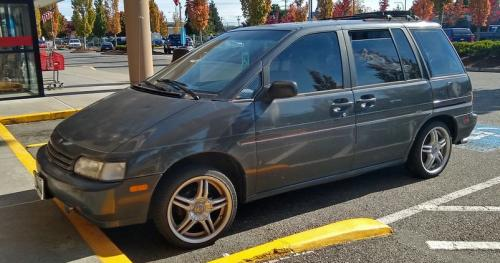 Photo Image Gallery & Touchup Paint: Nissan Axxess in Polar Gray Pearl  (KH4)  YEARS: 1990-1990