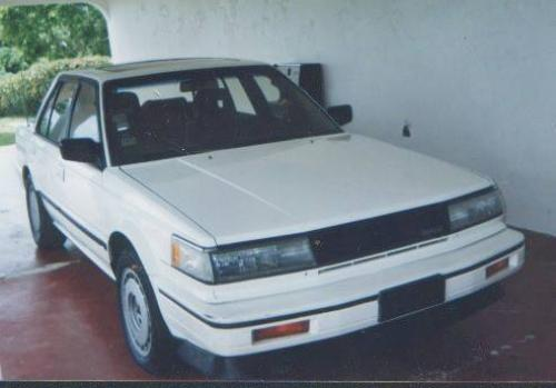 Photo Image Gallery & Touchup Paint: Nissan Maxima in Super White   (326)  YEARS: 1987-1988