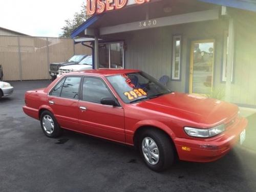 Photo Image Gallery & Touchup Paint: Nissan Stanza in Aztec Red   (AG2)  YEARS: 1990-1992