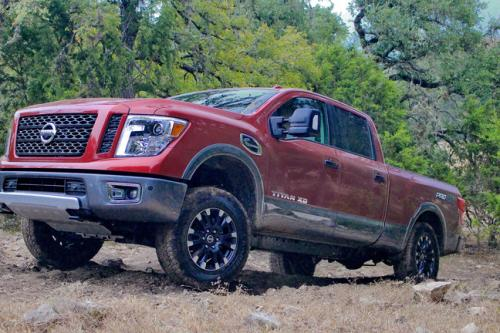 Photo Image Gallery & Touchup Paint: Nissan Titan in Cayenne Red   (NAH)  YEARS: 2016-2018