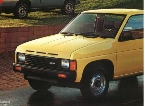 Photo Image Gallery & Touchup Paint: Nissan Truck in Butter Yellow   (119)  YEARS: 1986-1986