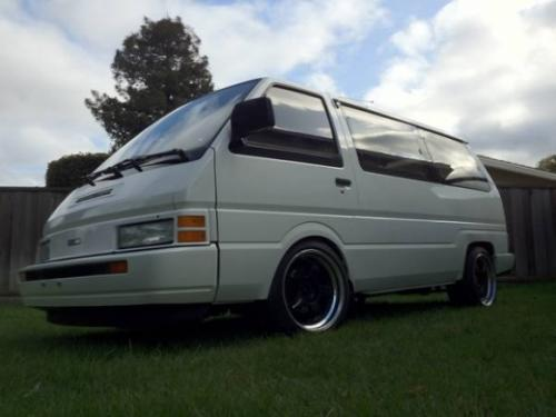 Photo Image Gallery & Touchup Paint: Nissan Van in Mint White   (002)  YEARS: 1987-1990