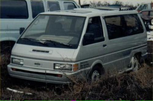 Photo Image Gallery & Touchup Paint: Nissan Van in Platinum Metallic   (006)  YEARS: 1987-1990