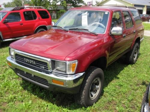 Photo Image Gallery & Touchup Paint: Toyota 4runner in Medium Red Pearl  (3H4)  YEARS: 1990-1991