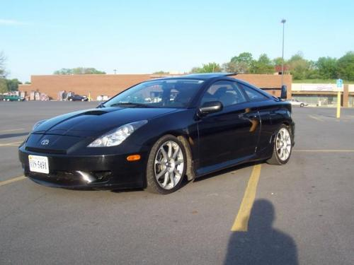 Photo Image Gallery & Touchup Paint: Toyota Celica in Black    (202)  YEARS: 2000-2005