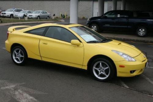 Photo Image Gallery & Touchup Paint: Toyota Celica in Solar Yellow   (576)  YEARS: 2003-2005