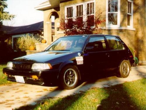Photo Image Gallery & Touchup Paint: Toyota Corolla in Black Metallic   (204)  YEARS: 1987-1988