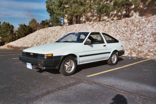 Photo Image Gallery & Touchup Paint: Toyota Corollasport in White    (038)  YEARS: 1984-1984