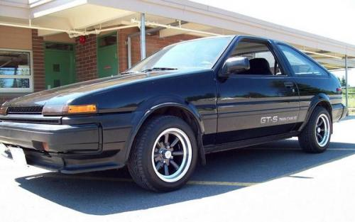 Photo Image Gallery & Touchup Paint: Toyota Corollasport in Black Metallic   (204)  YEARS: 1986-1986