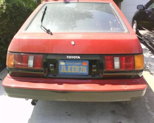 Photo Image Gallery & Touchup Paint: Toyota Corollasport in Red Black   (2M9)  YEARS: 1984-1984