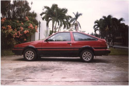 Photo Image Gallery & Touchup Paint: Toyota Corollasport in Red Black   (2T6)  YEARS: 1985-1986