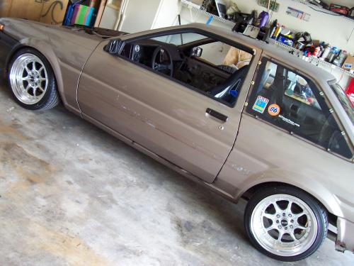 Photo Image Gallery & Touchup Paint: Toyota Corollasport in Rose Gray Metallic  (3C7)  YEARS: 1986-1986