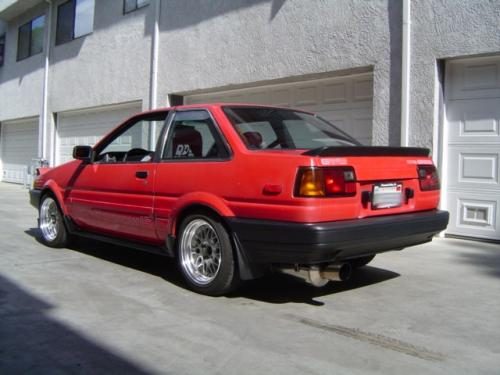 Photo Image Gallery & Touchup Paint: Toyota Corollasport in Red    (3E6)  YEARS: 1985-1987